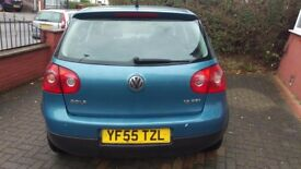 **Reduced Price** VW Golf 1.6FSi 2005 Blue 12 Months MOT New Clutch & Replaced gearbox