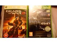 Gears of War 2 nearly new and Halo 3 brand new