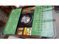 Vintage inlay games table with roulette