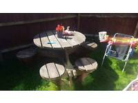 6 seater solid garden bench (ex pub) Large ,