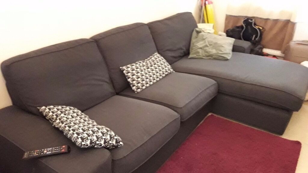 Ikea kivik three seater sofa chaise longe in tonbridge for 3 seater couch with chaise