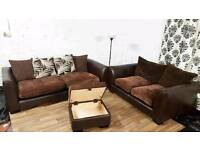 New/Ex display 3+2 seater with matching footstool**Free delivery**