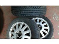 3 x Audi a3 alloys 195 65 15 tyres