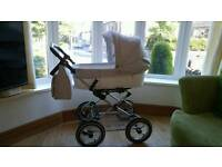 Babystyle Prestige Pram 2 part traditional style AS NEW