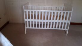 East Coast White Cot Bed