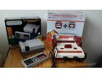NES mini (uk) + Famicom compact (japanese import)