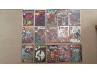 MIXED COMICS. Mostly Spawn. Some batman, lobo and 2000ad