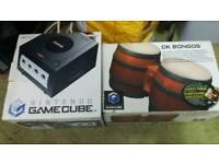 nintendo gamecube boxed boxed bongo drums all leads extra pad and 24 games