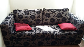 3 seater fabric sofa - good conditions
