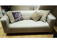 KLIPPAN beige sofa COVER