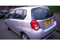 BARGAIN 2011 AVEO LOW MILEAGE 42000, 11 MONTHS MOT, 5 DR HATCHBACK, SILVER VERY GOOD CONDITION