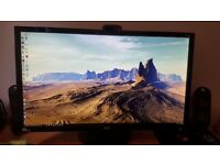 """Acer CB280HK 28"""" 4K monitor boxed with cables"""