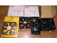 120mm,92mm,80mm PC Case Fans + Cables, 2 x Fan Controllers