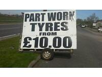New and part worn tyre sales.
