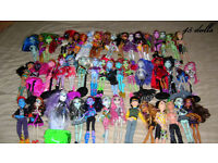 Huge Monster High Bundle 90 Dolls, Rares and School, Free Delivery