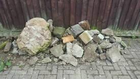 Hardcore bricks rubble free