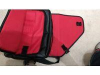 Caseflex Messenger / Shoulder Bag for laptop, work, school etc... - Black PU Leather – Black