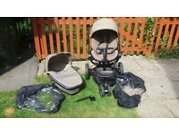 QUINNY MOODD PUSHCHAIR PLUS CARRYCOT INC ACCESSORIES