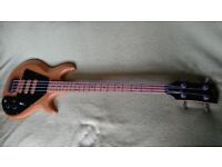 1975 Modified Gibson Ripper/G3 bass guitar, with hardcase and JayDee pickups