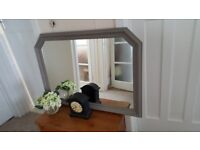 Shabby Chic over mantle mirror finished in Annie Sloan chalk paint