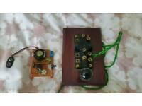 Vintage morse key wih oscilator