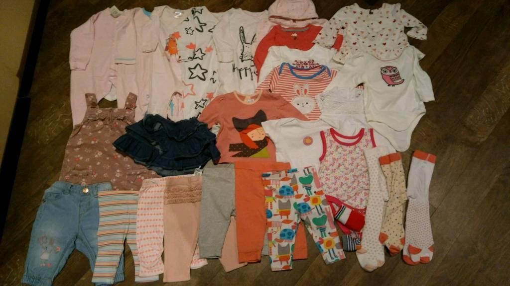 3-6 baby girl bundle 29 items