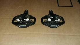 Shimano double sided spd pedals