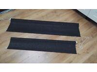 Black glitter blackout roller blinds