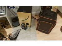 Roland el cajon with LP pedal and case