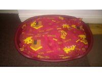 Dog basket & cushion