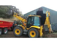 Plant Hire, Digger hire with operator.