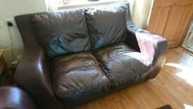 2-seater leather sofa - FREE