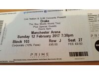 Drake tickets, Manchester Arena 12 Feb, VIP AND LOUNGE ACCESS