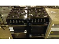 FLAVEL Dual Fuel Range Cooker - black & Chrome ex display rrp 749.99