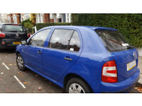 Blue Skoda Fabia - 06 registration, 46500 miles, great condition with full service history