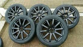 "17"" force 10 kei racing alloy wheels set of 5"