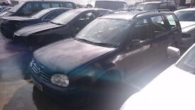2001 VAUXHALL GOLF ESTATE SE, 1.9 TDI, BREAKING FOR PARTS ONLY, POSTAGE AVAILABLE NATIONWIDE