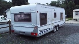 caravan to rent in a nice secluded area including parking space