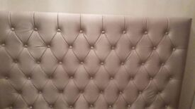 NEXT Champagne Double Satin Quilted Headboard