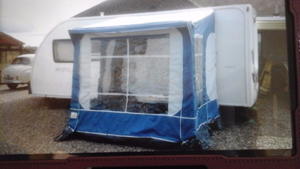 Pyramid Porch Awning 8ft X 6ft Blue