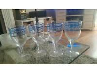 Set of plastic glasses