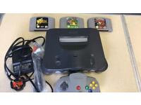 N64 console and games