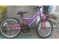 "Girls bike 18"" diameter wheel. Good condition."