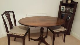 Table and 2 chairs, good condition. Lovely elegant style