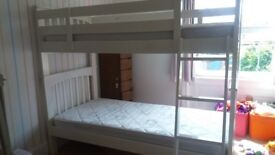 Bunk Beds - white wooden - perfect for children's bedroom