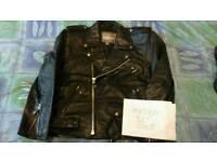 vintage leather biker jacket, Genuine
