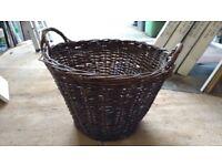 FREE!! Large wicker log basket