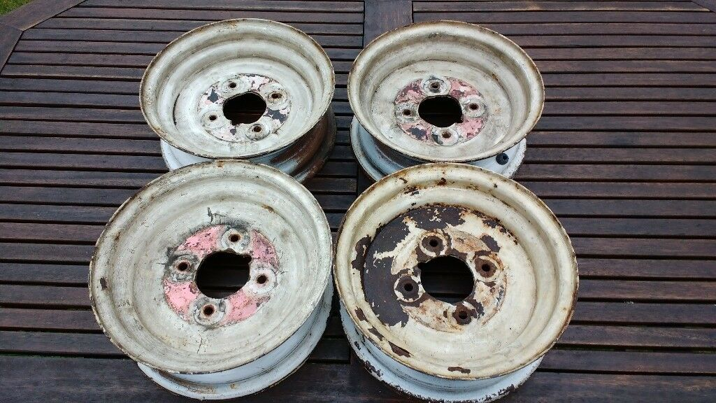 "Trailer wheels 4"" PCD for 145x10 tyres"