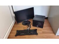 Gaming Desktop PC Computer, Nvidia, Quad Core, SSD, 21 Inch Monitor, Gaming Mouse and Keyboard