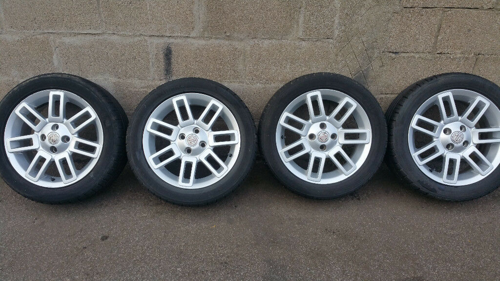 MG Genuine 16 alloy wheels + 4 x tyres 205 50 16
